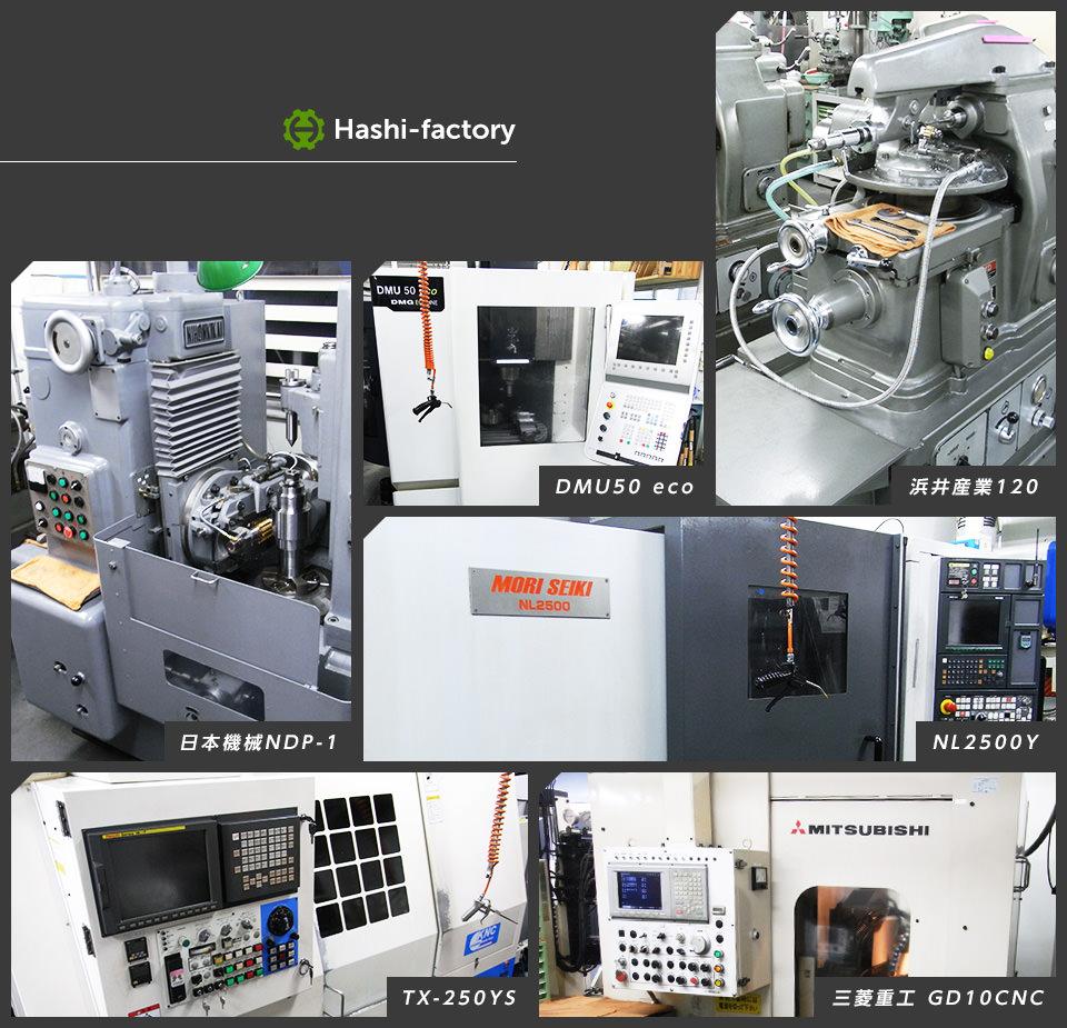 Hashi-Factory 日本機械NDP-1 DMU50 eco 浜井産業120  NL2500Y TX-250YS 三菱重工 GD10CNC